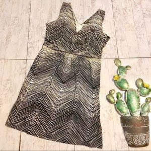 Tommy Bahama Black and Cream Zebra Dress size L